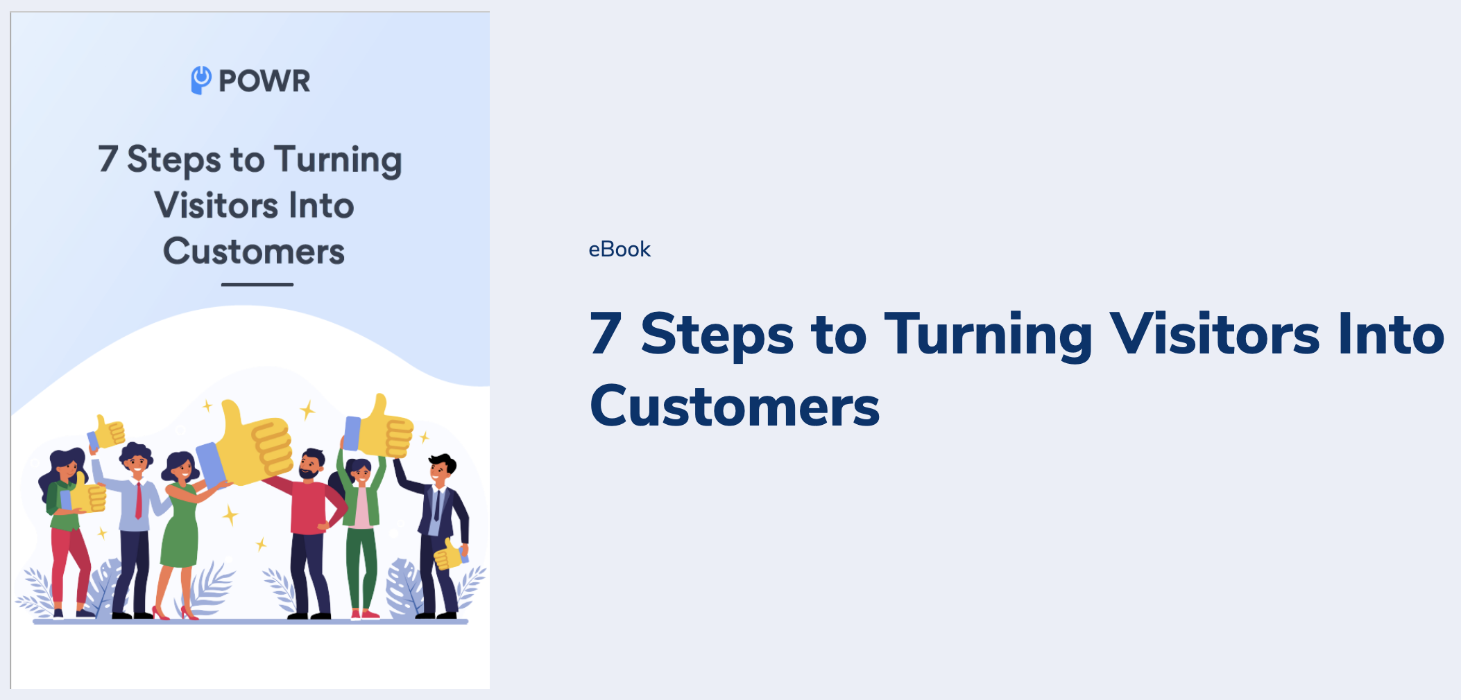 7 steps to convert visitors into customers ebook