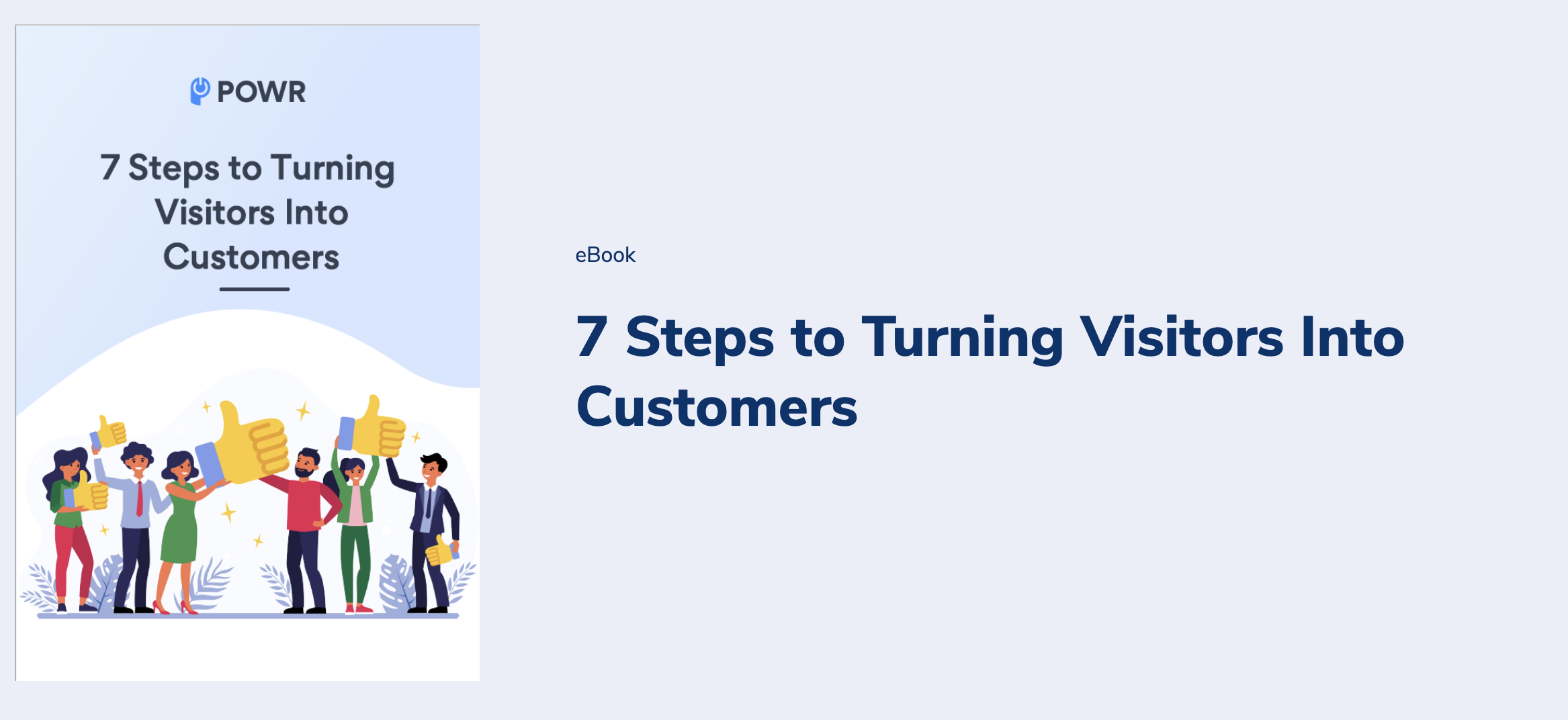 POWR ebook - 7 steps to turning visitors into customers