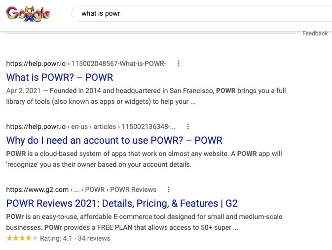 Meta title and meta description in Google search